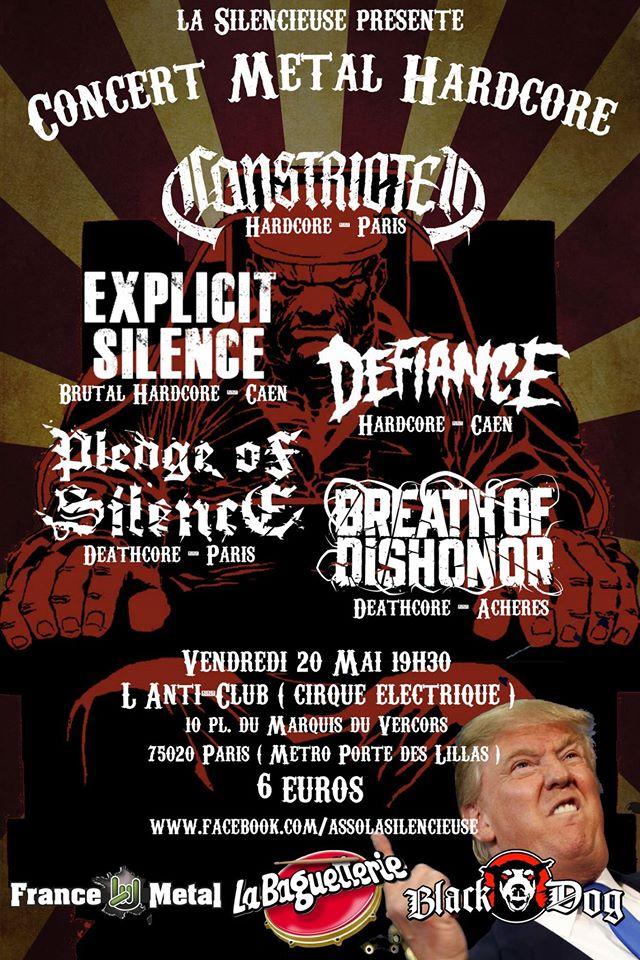 News concert h c metal asso la silencieuse paris 20 - Le cirque electrique porte des lilas ...